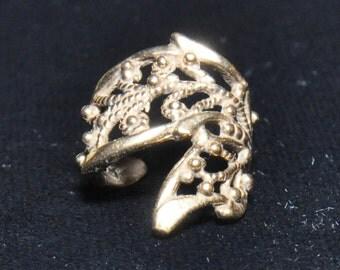 Bronze Butterfly Ear Cuff