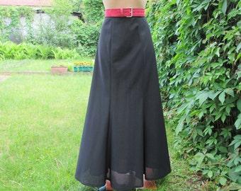 Long Black Skirt Vintage / Maxi / Size EUR40 / UK12