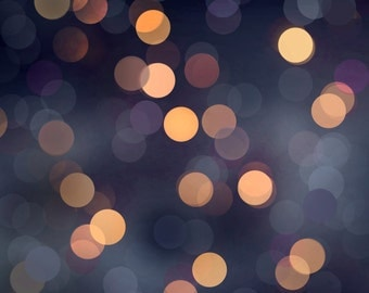 "Twilight gold gray Bokeh background Gold/blue 12"" x 12"""