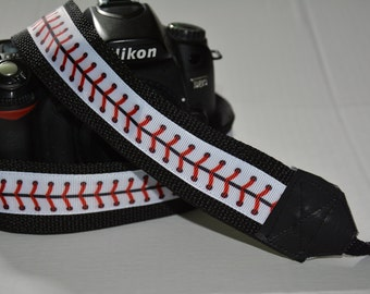 Personalized DSLR Camera Strap -Baseball Stitch