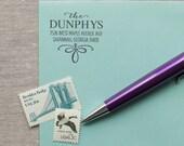 Self-Inking Address Stamp SAVANNAH Design Interchangeable return stamp wood handle stamp