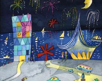 Milwaukee Fireworks Print