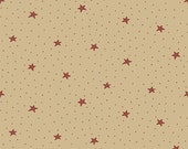Tan Stars by Ani Downs Under the Mistletoe Collection from Henry Glass