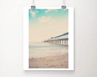 beach photograph ocean photograph southwold pier photograph beach decor england photograph beach print southwold print coastal print