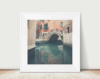 Venice photograph bridge photograph travel photography Venice print canal photograph reflection photograph Italian decor
