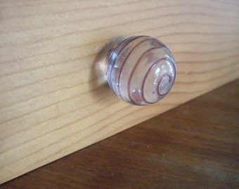 Glass sphere knob