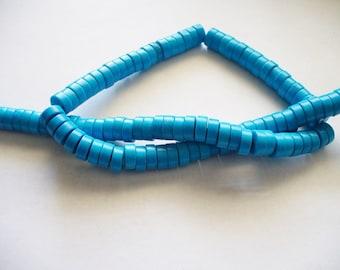 Magnesite Beads Turquoise Heishi 8x4mm