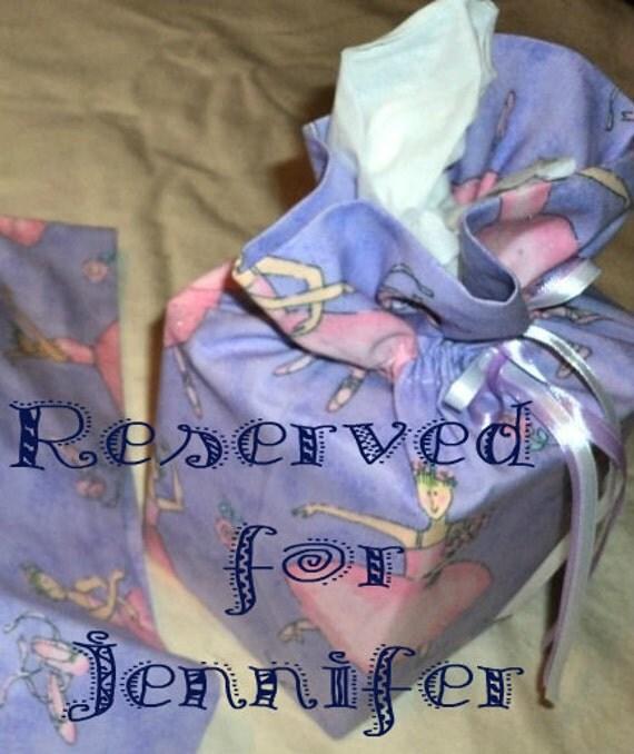 Reserved for Jennifer -  Tissue Box Cover, Balerina, Dance, Lavendar, Pink, Cotton
