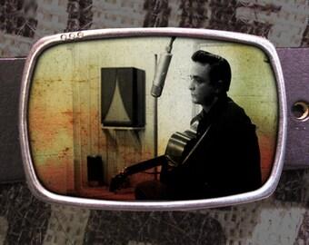 Johnny Cash Belt Buckle, Vintage Inspired 551