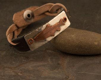 Men's Trout Bracelet, Fishing jewelry, Fishing Gift