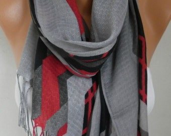 Gray Cotton Scarf, Fall Fashion ,Shawl, Cowl Oversize Wrap Gift Ideas For Her, Women Fashion Accessories,Christmas Gift Women Scarves
