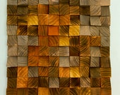 "Wood Wall Art, geometric wood art, industrial decor, ""Factory Rust"" - Ready to Ship"