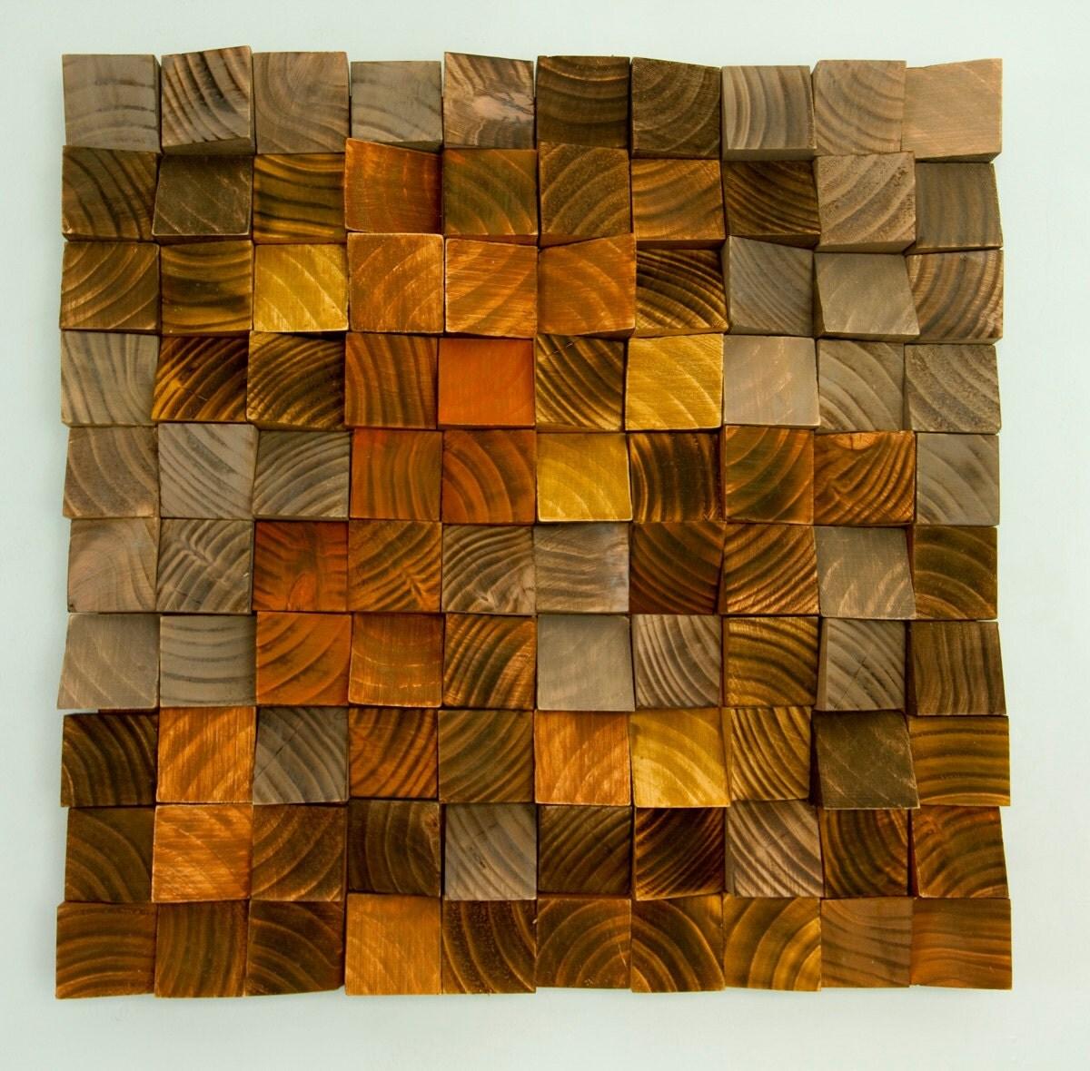 Wood Wall Art Geometric Wood Art Industrial Decor