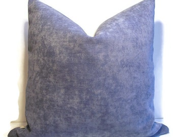 Solid Blue Pillow Cover Sky Blue Velvet Pillow Cover Medium Blue Velvet