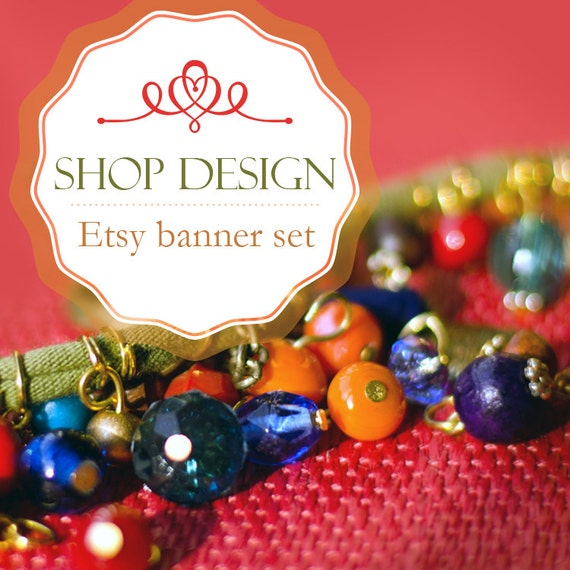 Items similar to Jewelry Banner Etsy shop design - Beads ... - photo#27