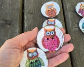 """6 buttons Large decorative buttons for cushions or fashion designs 2"""" (50mm) diameter"""