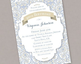 Custom PRINTABLE Birthday Announcement Invitation - PDF or JPEG Digital File