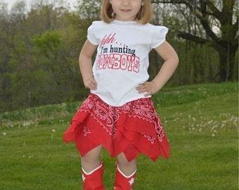 Western bandana skirt