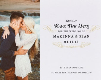 His & Hers Save the Date