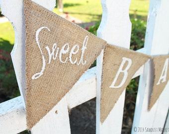 SALE! Sweet Baby Girl, Sweet Baby Boy,  It's a Girl Burlap Banner or Sign - Baby Shower banner, It's a Boy MARKED DOWN from 30.00