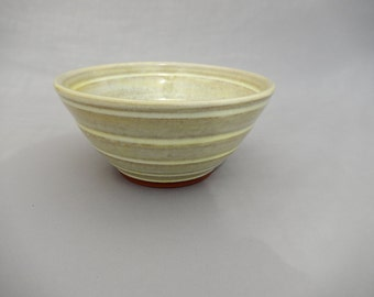 Yellow Ceramic Bowl -  Small Serving - Pale Yellow Glazed Earthenware
