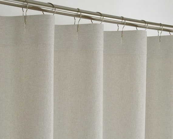 84 long beige linen shower curtain 72 x 84 long washed