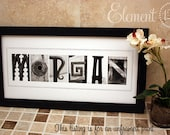 CUSTOM Alphabet Photo Letter Art - 10x20 Unframed Name Print, Home Decor for Wedding, Shower or HouseWarming Gift
