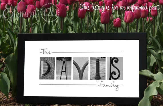 Wedding Gift Alphabet Art : Alphabet Photo Letter Art PrintSpecial Wedding Gift, Anniversary ...