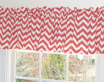 coral ruffle curtains | etsy