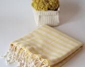 Premium Linen Turkish Towel, Peshtemal, Bath and Beauty, Bath and Body, Fouta, Hammam, Mom, Natural, spa, Yellow, Beach Towel, Ultralight