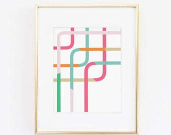 Intersecting Lines- 8.5 x 11 Print