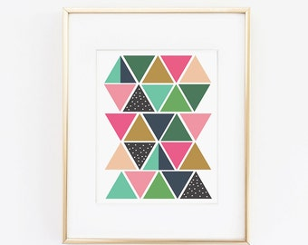 Triangles on Triangles- 8.5 x 11 Print