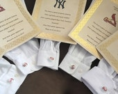 Wedding party 5 pairs Played game ball MLB baseball sports fanatic hand crafted cuff links you choose your team