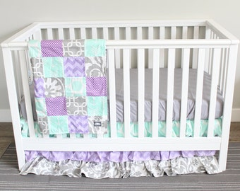 Purple Grey Nursery Etsy