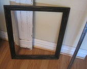 Vintage Empty Oak Wood Frame in Distressed Ebony Photo Prop - French Country - Shabby Chic -  Rustic Farmhouse