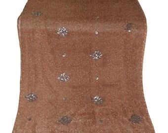 One  Used Sari ,Dress  Making fabric sarong drape Embroidered Sari