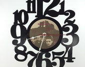 Handmade Vinyl Record Wall Clock Hanging Clock  (artist is U2)