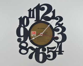 Handmade Vinyl Record Wall Clock Hanging Clock  (artist is Joe Cocker)