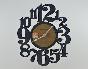 Handmade Vinyl Record Wall Clock Hanging Clock  (artist is Joe Cocker)