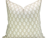 Peter Dunham Textiles Rajmata pillow cover in Limestone
