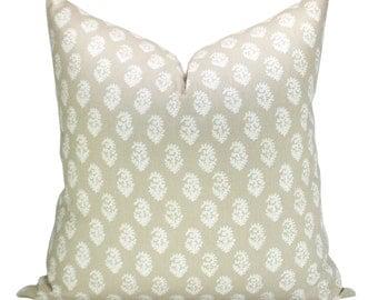 Rajmata pillow cover in Limestone