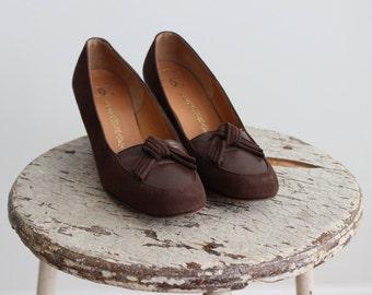 1960s Chocolate Elena Shoes
