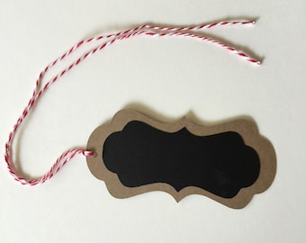 Chalkboard tags for mason jars, milk bottle and more - set of 20 chalk tags