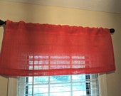 Pick Your Color Burlap Valance Casual Rustic Chic Kitchen Curtains  and Bedroom Valances Available in 20 Colors