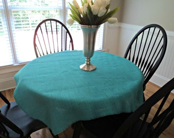 "Large Burlap Overlay Burlap Tablecloth Many Colors and Sizes Available Shower Table Decor Wedding Reception Decoration 40"" up to 60"" Squares"