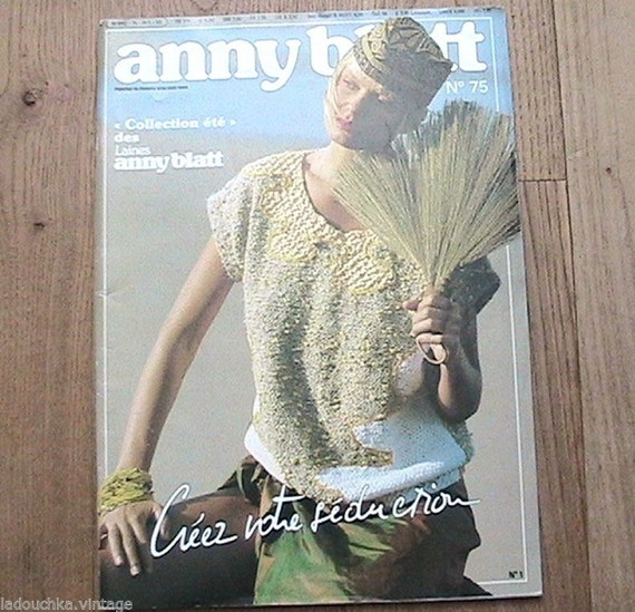 ANNY BLATT 1990s Knitting Pattern Magazine 32 Summer by ladouchka