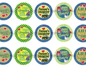 """1"""" Farm Girl Farmers Daughter Bottle Cap Image Sheets Party Favors Cupcake Topper Magnet Stickers Printables Bottlecap Instant Download."""