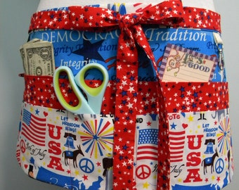 Teacher Crafter Vendor Utility Apron-Land of Liberty