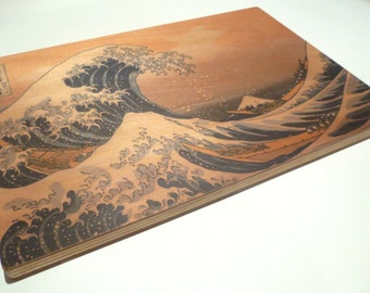 """Objectify """"Great Wave off Kanagawa"""" Printed Serving Platter and Cutting Board"""