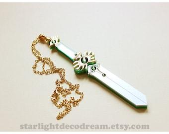 SALE Fuu's Escudo Blade Necklace Magic Knight Rayearth Inspired Fanart Sword for Magical Girl Mahou Kei Kawaii Fashion